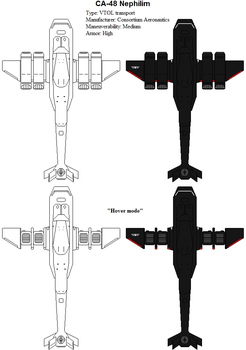 Gilbert Consortium ships - CA-48 Nephilim by ATTACK1942