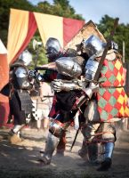 Knights Battle by Nivelis