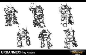 Urbanmech Sketches by Viereth