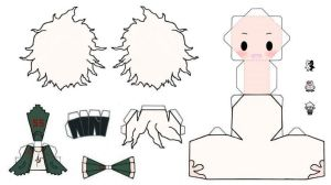 Nagito Komaeda Papercraft by moondark-crafts