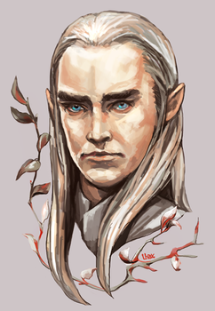 Thranduil portrait by Lhax