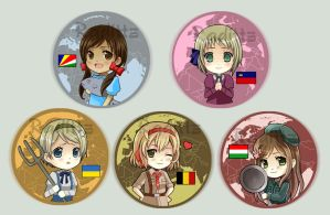 Hetalia Button set 5 by Radittz