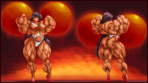 SAILOR MARS TRAINING FRONT AND BACK by B9TRIBECA