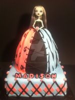 Monster High Doll Cake by Corpse-Queen