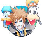 Sora, Donald and Goofy by Raphaella