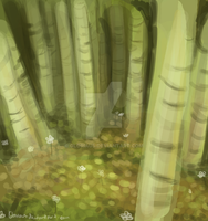 Green Trees by Gloriaus