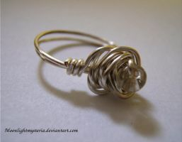 Wire Wrapped Beaded Ring by MoonlightMysteria