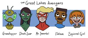 The Great Lakes Avengers by genesischant
