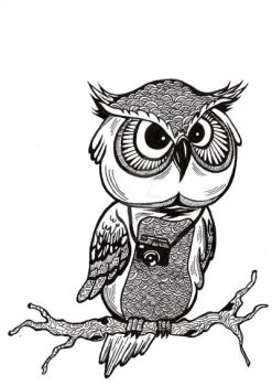 Owls Bw by zhie87