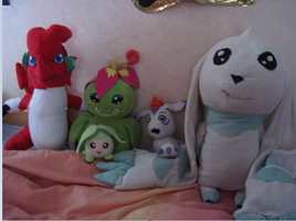 Some of my digimon plushies by PipecleanerFTW