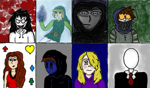 Creepypasta-Behind Closed Doors Character Profiles by abacada123