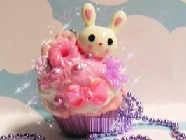 PinkxLavender Bunny Cupcake by ImperfectKawaii