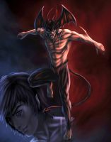 devilman color by vic55b