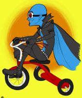 Megamind on a tricycle by akuma-neko