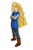 SSJ3 Android 18 by brolyeuphyfusion9500