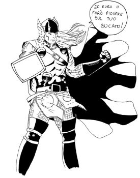 Thor - Lineart by Flox95