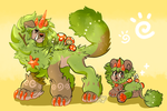 Adult+Pup DandyLyon COMBO - Fairy Ring by AdorkableMarina