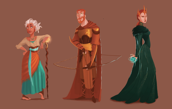 Character designs by matthoworth