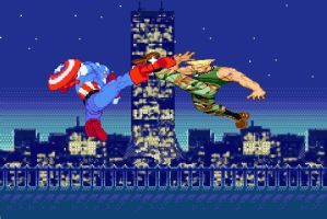 Captain America vs William Guile by falconreachhero
