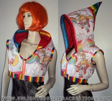 Rainbow-Brite-Hoodie-Jacket-Shrug by RedheadThePirate