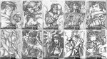Bayan Knights sketch cards batch 1 by daverge