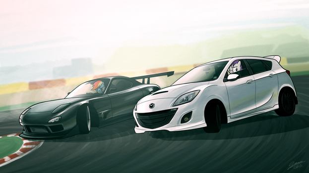 Mazda Face-off - Commission for LCut by Dori-to