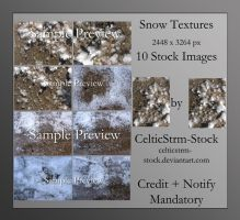 Snow on Cement Textures by CelticStrm-Stock