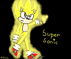Super Sonic .:Sonic X style:. by WhirlwindTheHedgehog