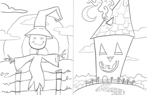 Halloween coloring pages by Iggypuff