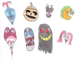 halloween stickers by xbertyx