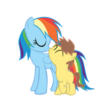 Rainbow with her son Clay by kuren247