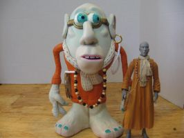 Hare Krishna Zombie Poatohead with Friend by Potatoheadmaster