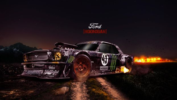Hoonigan ford`s old  car by temo4hossam