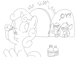 Sweetie Belle the Odwalla Thief by spicyhamsandwich