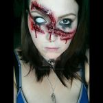 Slashed Face by ZombieFayce