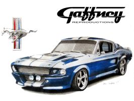Colored Pencil Classic Mustang by theGaffney