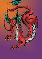 red dragon by lindaatje