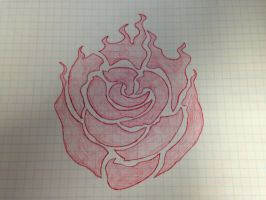 Ruby Rose Emblem Sketch by TheShwa10210
