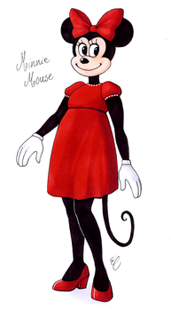 Minnie Mouse by EmmieSensei