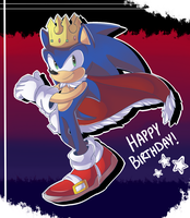 Happy 24th Anniversary Sanic by anchoringg