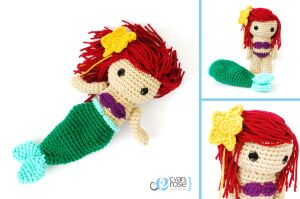Ariel, The Little Mermaid - Crochet Amigurumi Doll by CyanRoseCreations