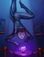 Catwoman color sketch by alexichabane