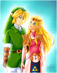 Link + Zelda :: Ocarina of Time by brigette