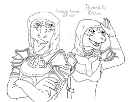 Wip - Souless and Ajaton by Kikioh-San