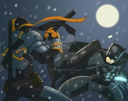 Batman Vs Deathstroke by 585