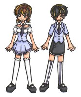 Ouran Girl Uniforms by InscribedinBlood