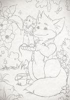 Page for coloring for live bubbles by Beffana