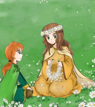 (APH ) - OCs Ireland and Albion as children by madisoncamellia