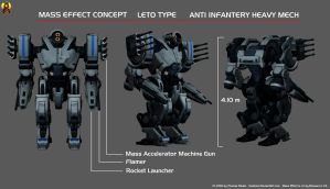 Leto Type Heavy Mech by Euderion