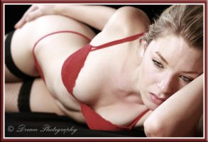 Red Lingerie by DreamPhotographySyd